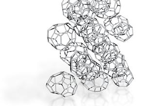 19 small achiral fullerenes in White Natural Versatile Plastic