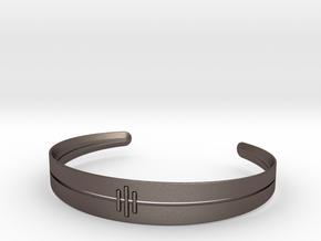 Stitch Bracelet in Polished Bronzed Silver Steel: Small