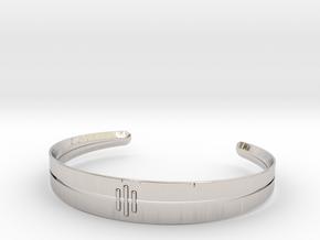Stitch Bracelet in Platinum: Small