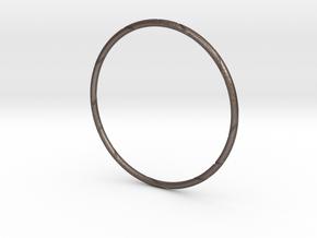 Ribbon Bracelet in Polished Bronzed Silver Steel: Small