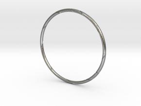 Ribbon Bracelet in Natural Silver: Small
