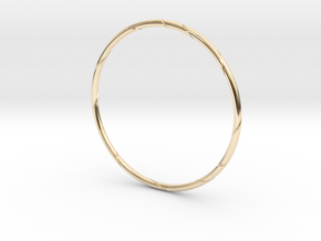 Ribbon Bracelet in 14k Gold Plated Brass: Small