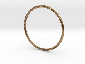 Orbit Bracelet in Natural Brass: Small