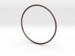 Andromeda Bracelet in Polished Bronzed Silver Steel: Large