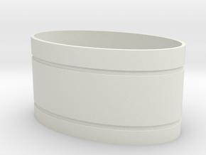 Mekki-Maru Scabbard Collar in White Natural Versatile Plastic
