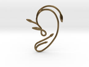Ear Cuff of Belle (Left Ear) in Polished Bronze