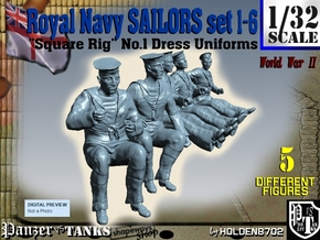 1-32 Royal Navy Sailors Set1-6 in Frosted Ultra Detail