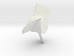 3 blade fan for 25mm (1 inch) edf case in White Natural Versatile Plastic