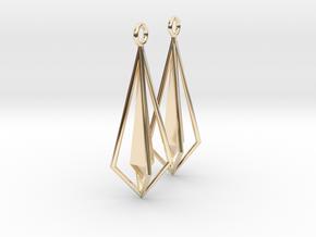 Geometric chic earrings in 14k Gold Plated Brass
