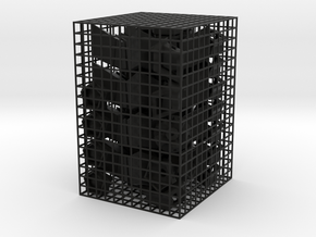 Megaminx Inward V2 in Black Natural Versatile Plastic: Medium