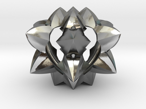 Spiked Heart in Polished Silver