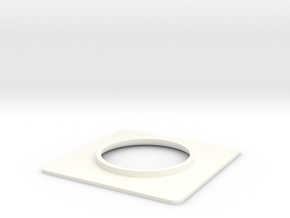 Seaking Nose Light Surround. in White Strong & Flexible Polished