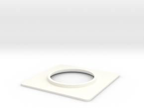 Seaking Nose Light Surround. in White Processed Versatile Plastic