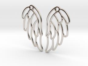 Angel Wing Earrings in Platinum