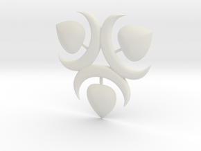 Mekki-Maru Scabbard Ornament in White Natural Versatile Plastic