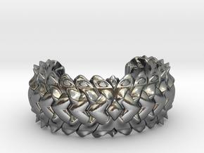 HYBRID CUFF  in Polished Silver: Medium
