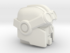 Whiny Hauler's Head on a Tank in White Natural Versatile Plastic