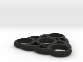 Fidget Spinner in Black Natural Versatile Plastic