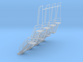 NYC - CR & PF Towers - Stair (4X) in Smooth Fine Detail Plastic