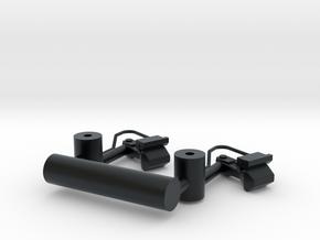 HO CLRV Couplers Folded 1pr in Black Hi-Def Acrylate