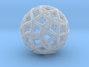 Spherical Icosahedron with Dodecasphere in Smooth Fine Detail Plastic