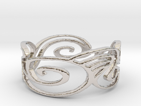 Ring Design Ring Size 6.25 in Rhodium Plated Brass