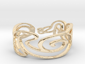 Bracelet Design Women in 14k Gold Plated Brass