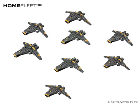HOMEFLEET Corvette Squadron - 8 ships in Frosted Ultra Detail