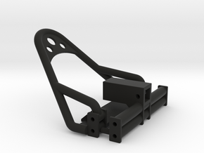 1/24 Crawler Bumper Set (leaf spring frame) in Black Natural Versatile Plastic