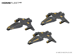 HOMEFLEET Frigate Squadron - 3 ships in Frosted Ultra Detail