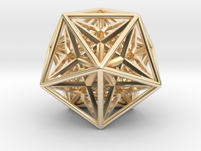 Super Icosahedron in 14K Yellow Gold