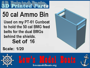 Dual 50 BMG Ammo Boxes in White Strong & Flexible: 1:20