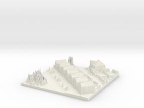 Bergschenhoek City Map, Jan Steenlaan in White Natural Versatile Plastic