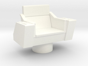 Bridge - Captain's Chair 12 in White Processed Versatile Plastic