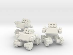Rim Bastion Infantry Support Drone Team in White Natural Versatile Plastic
