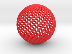The Ball in Red Processed Versatile Plastic