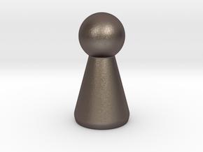Generic token in Polished Bronzed Silver Steel
