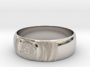 Martha - Ring in Rhodium Plated Brass: 9 / 59