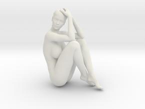 Long Ponytail Girl-070 in White Strong & Flexible