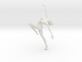 Long Ponytail Girl-078 in White Natural Versatile Plastic