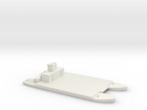 1/350 Siebelfahre 43 Holzgas-Generator in White Natural Versatile Plastic