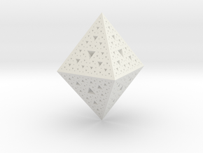 Sierpinski Octohedron 618 in White Natural Versatile Plastic