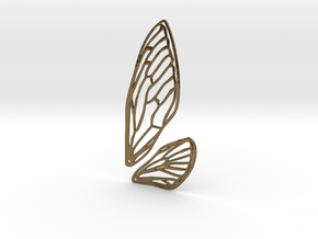 Cicada wings in Polished Bronze