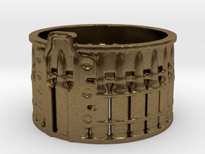 AK-47 75 rnd. Drum, Ring Size 10 in Natural Bronze