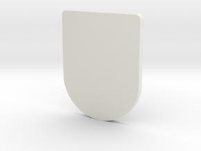 Front Door Scaled in White Natural Versatile Plastic