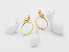 Stacking Rabbit (Proud) in Polished Brass: 6 / 51.5