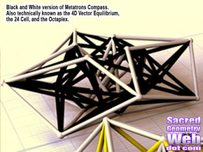 Metatron's Compass 100mm -4D Vector Equilibrium -  in Full Color Sandstone