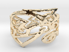 Charm Ring Design Ring Size 7 in 14K Yellow Gold