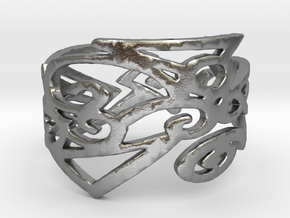 Charm Ring Design Ring Size 7 in Natural Silver