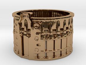 AK-47 Ak47 75 Round Drum, Ring Size 12 in Polished Brass